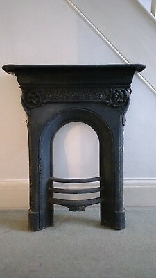 Old Antique Victorian - Edwardian Cast Iron Fireplace