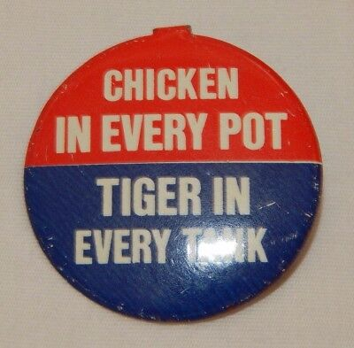 Vintage Esso Gasoline Tiger In Every Tank Advertising Pinback Pin