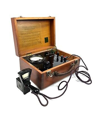 Vintage Fluxmeter Cased In Wooden Box / Bakelite Measuring Equipment Tool