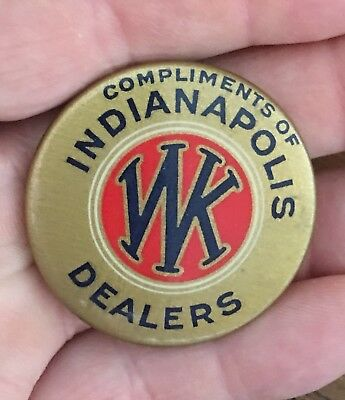 Original Willys Knight Indianapolis Dealers Pocket Mirror Whitehead & Hoag