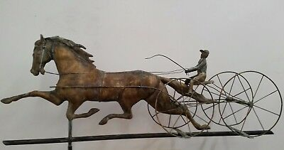 Four wheel surrey patchen horse with rider weathervane