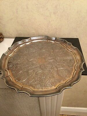 Vintage Silver Plated Decorative Drinks Tray