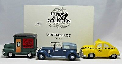 """Department 56 """"Automobiles"""" Set of 3, Heritage Village Collection  #59641"""
