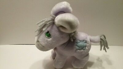 "Precious Moments Plush Purple Donkey 1985 Applaus 12"" w/Locket EUC Adult Owned"