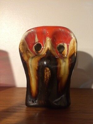 Eric Leaper owl Newlyn pottery Cornwall retro vintage