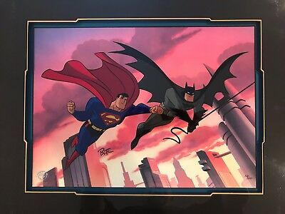Warner Bros Batman & Robin DYNAMIC LEAP signed Limited Edition Animation Art #16