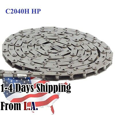 C2040H-HP Hollow Pin Conveyor Roller Chain 10 Feet with 1 Connecting Link