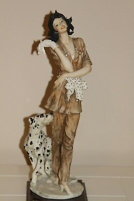 "Armani Statue ""Marina"" #0649C Lady with Dalmation"