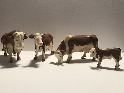Schleich Hereford Cow Family Retired