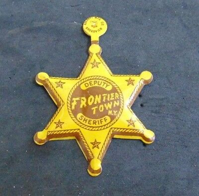 Vintage Frontier Town New York  Deputy Sheriff Badge with Clip