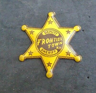 Vintage Frontier Town New York  Deputy Sheriff Badge without Tab/Clip