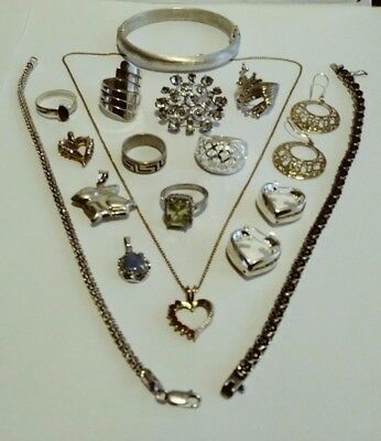 Fine Quality Sterling Silver Jewelry Lot / Not Scrap / 93.5 gr - 5 Day Auction !