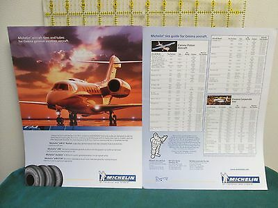 Michelin Cessna aircraft tire guide sales pamphlet brochure ad
