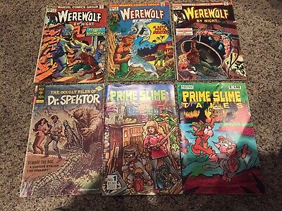 Mixed Lot Now, Marvel, etc Comics Lot of 6, werewolf comic, prime slime comic