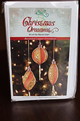NEW! Christmas Ornament Kit of the Month Club - BURNISHED COPPER ORNAMENTS