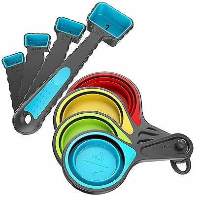 Collapsible Measuring Cups and Measuring Spoons Set