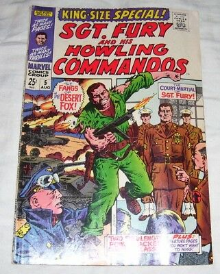 Sgt. Fury King Size Annual 5  F+ To Vf-