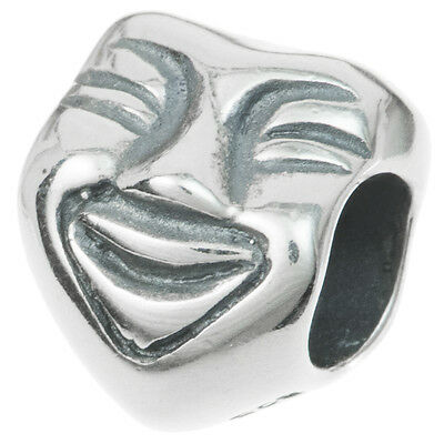 Dreambell 925 Sterling Silver Round Dont Worry Be Happy Smiley//Happy Face Bead For European Charm Bracelet