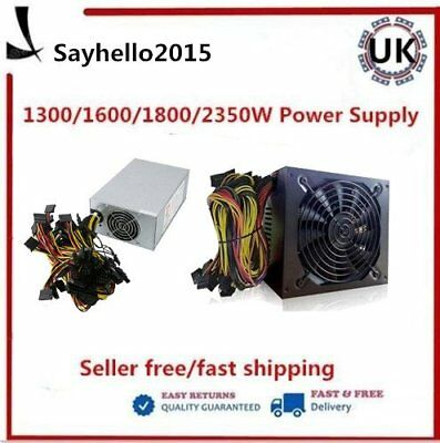 2350W/1800W Power Supply For 6GPU Eth Rig Ethereum Coin Mining Miner Dedicated S