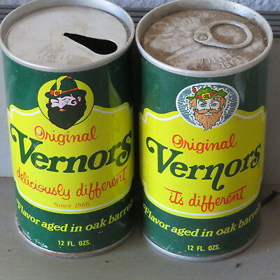 2. Different Vernors. Ginger Ale. Ss Tabs. Detroit Mich