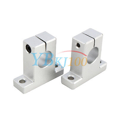 2pcs SK8/10/12/16 Linear Rail Bearing Shaft Guide Support Bracket Clamp Alloy JS