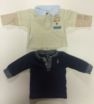 Baby Boy - Lot of 2 - Size 3 months - Long sleeves  - Thermal - Shirt - 4071