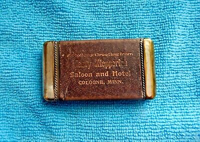 Rare Circa 1900's  Henry Klepperich Saloon  and Hotel Match  Safe