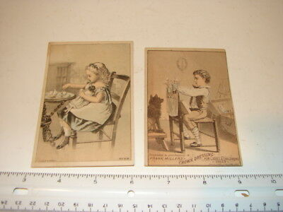 Antique Victorian Trade Cards Advertising Shoes Boots C M Henderson Solar Tip