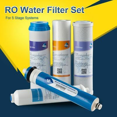 FULL SET MS® 5 Stage Reverse Osmosis Replacement Water Filter 50 GPD RO Membrane