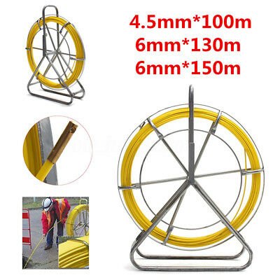 Fish Tape 4.5/6mm 100M Fiberglass Wire Cable Running RodDuct  Puller Electrical