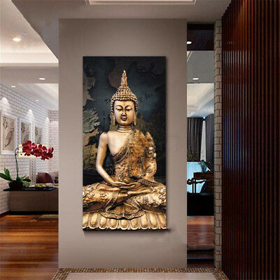 Modern Buddha Canvas Pictures Abstract Painting Posters Wall Art Home Decor Gift