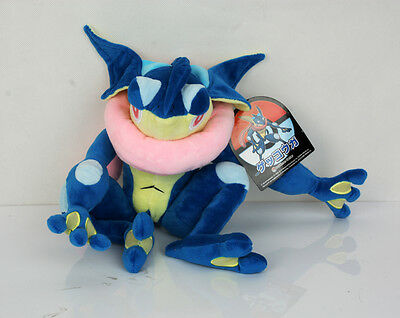 "Pokemon Center Greninja Gekoga Frog Plush Doll Stuffed Collectible Toy 12"" US"