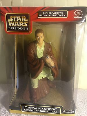 "Star Wars Ep 1 OBI WAN KENOBI 9"" Character Figure Glow In The Dark Lightsaber"