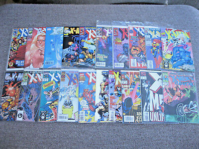 Set of 20 Mixed LOT of Marvel Comics *X-MEN* Comic Books (Vintage Modern)