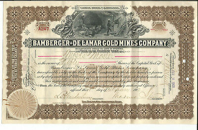 "Bamberger - De Lamar Gold Mines Company A247 (7 1/8"" x 11 3/8"") Moses Mosler"
