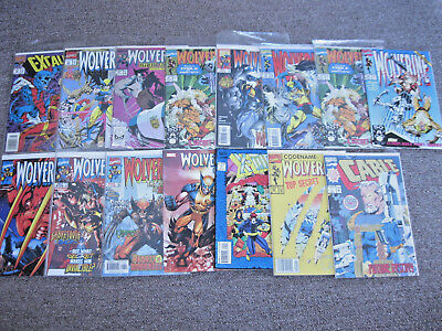 Set of 15 Mixed LOT of Marvel Comics *WOLVERINE / X-MEN* Comic Books Set