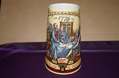 1992 Miller Beer Stein ...birth Of A Nation...second In A Series...new
