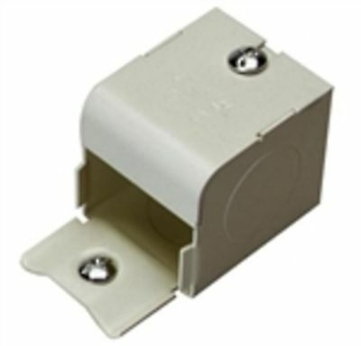 """Wiremold V2010A2 Raceway Entrance End Fitting, 2000 Series, Steel, Ivory, 1/2"""""""