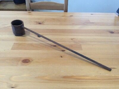 Antique Rustic Lead Pouring Dipper; Lead Melting Pot; Blacksmith; Fish Sinkers