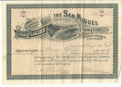 """The San Miguel Gold Placers Company #701 (7 3/4"""" x 11"""")"""