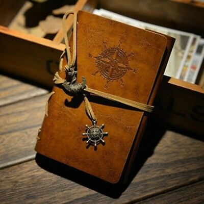 Leather Cover Vintage Notebook Journal Diary Blank String Nautical Traveler book