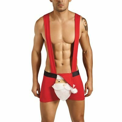 Naughty Santa Boxers with Attached Braces - Christmas Underwear