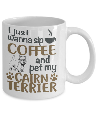 Sip Coffee With Cairn Terrier Coffee Mug, Cairn Terrier Mug