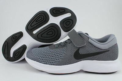 Nike Revolution 4 Psv Dark Gray/black Strap Slip-On Boys Girls Kids Youth Size