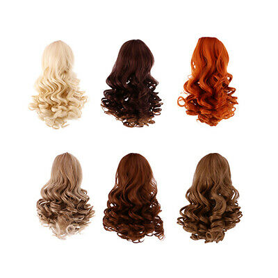 6pc Wavy Curly Hair Wig Heat Safe for 18 inch AG American Doll Dolls DIY Making