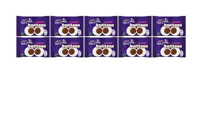 904721 10 x 40g PACKETS OF CADBURY DAIRY MILK GIANT BUTTONS MILK CHOCOLATE!