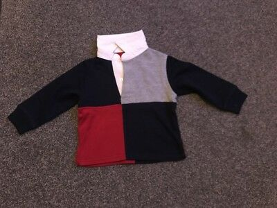 Baby Boys Rugby Top Age 12-18 Months