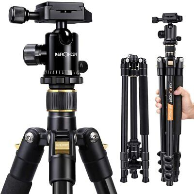 K&F Concept Camera Tripod Photo Tripod 46cm to 156cm w/ 3D Ball Head Insert DSLR