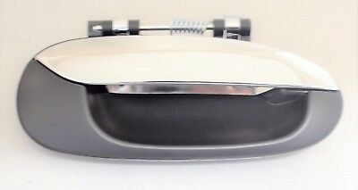 CARENS RONDO OUTER RIGHT REAR DOOR HANDLE BLACK CHROME NEW lg