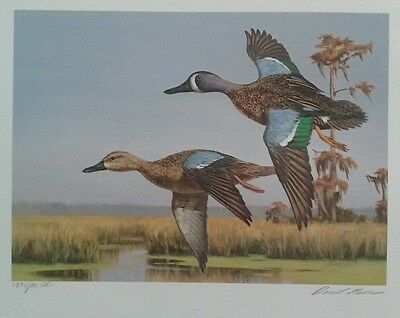 David Noll 1989 Louisiana 1st of State Duck Stamps 2 and Print Limited Ed